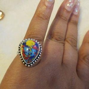 Mosaic Jasper ring
